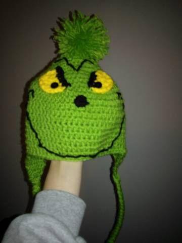 Grinch Hat $15.00 #crochet #Christmas #hat | Crocheted hats | Pinterest