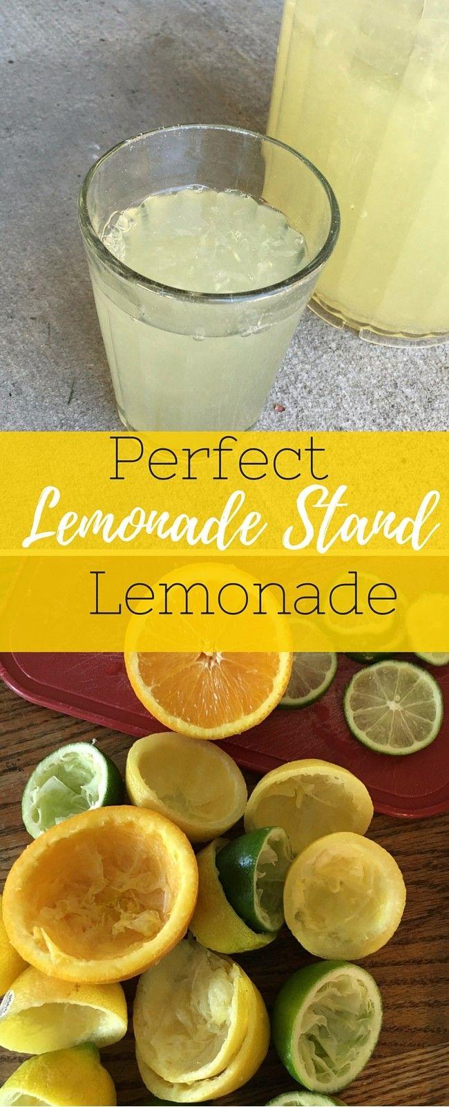 The Best Lemonade Stand Lemonade #homemadelemonaderecipes