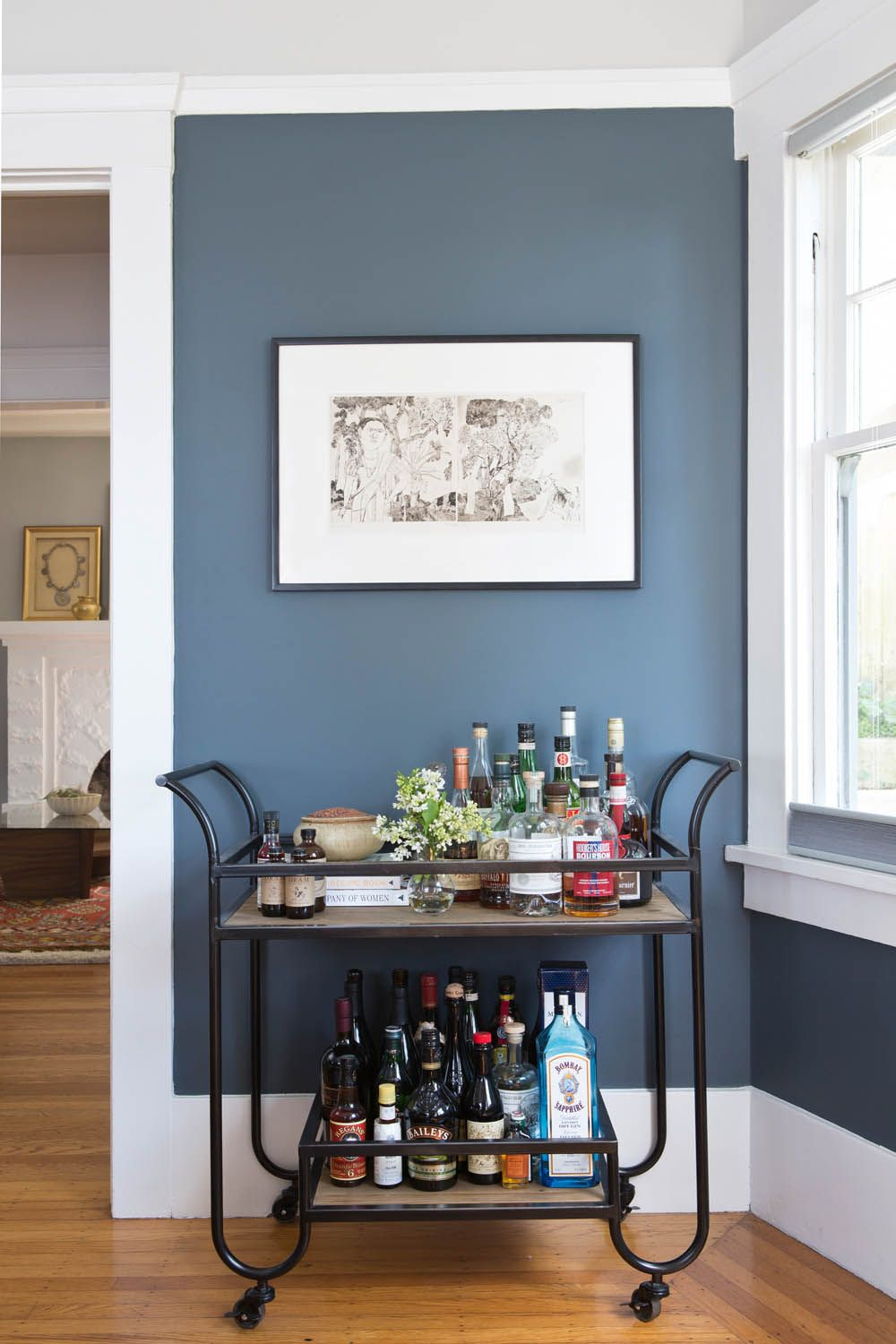 An Art Filled Home In Oakland Rue Dining Room Blue Blue