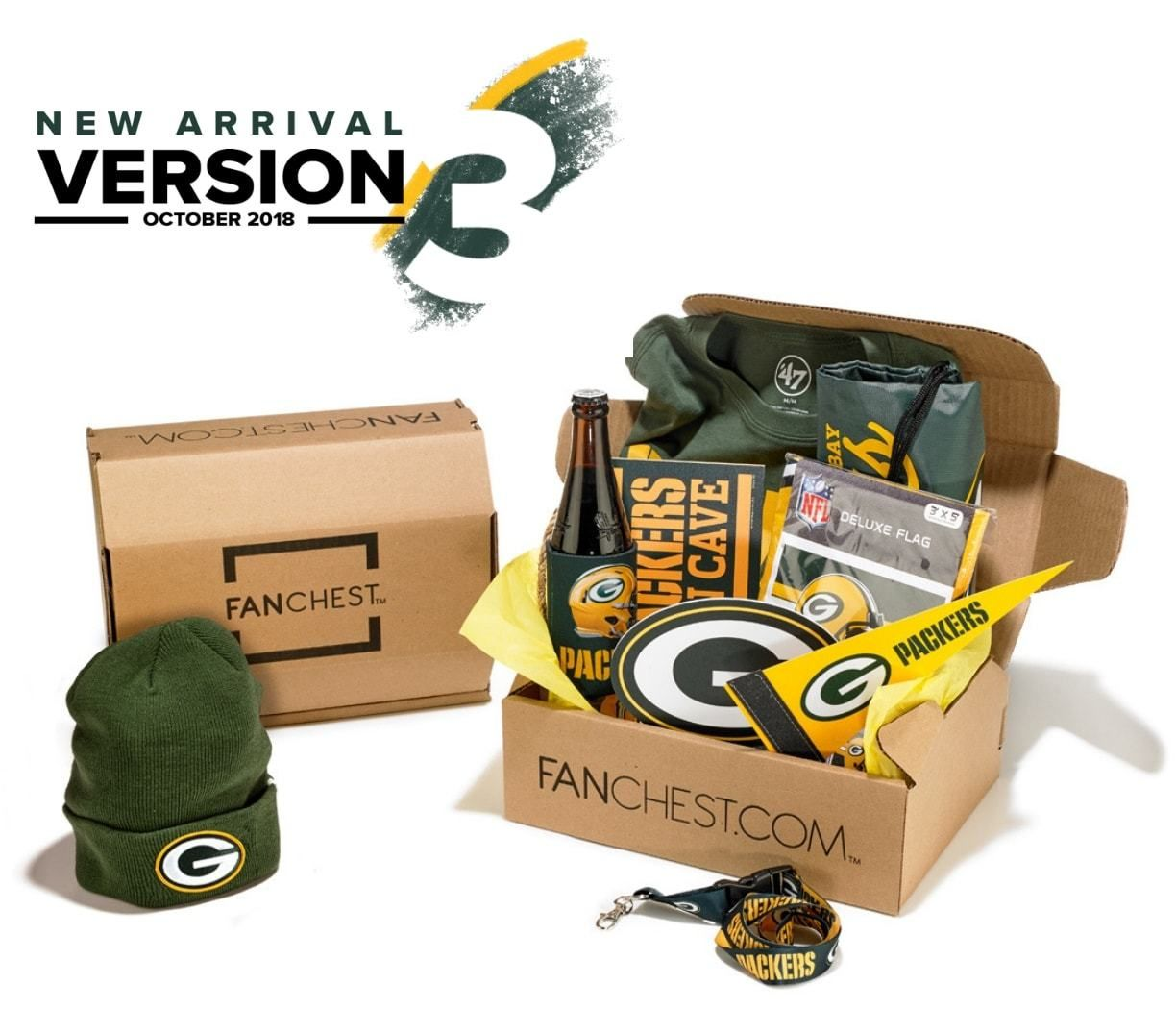 Green Bay Packers Gift Box Packers Gear Fanchest Green Bay Packers Gifts Packers Gifts Green Bay Packers Crafts