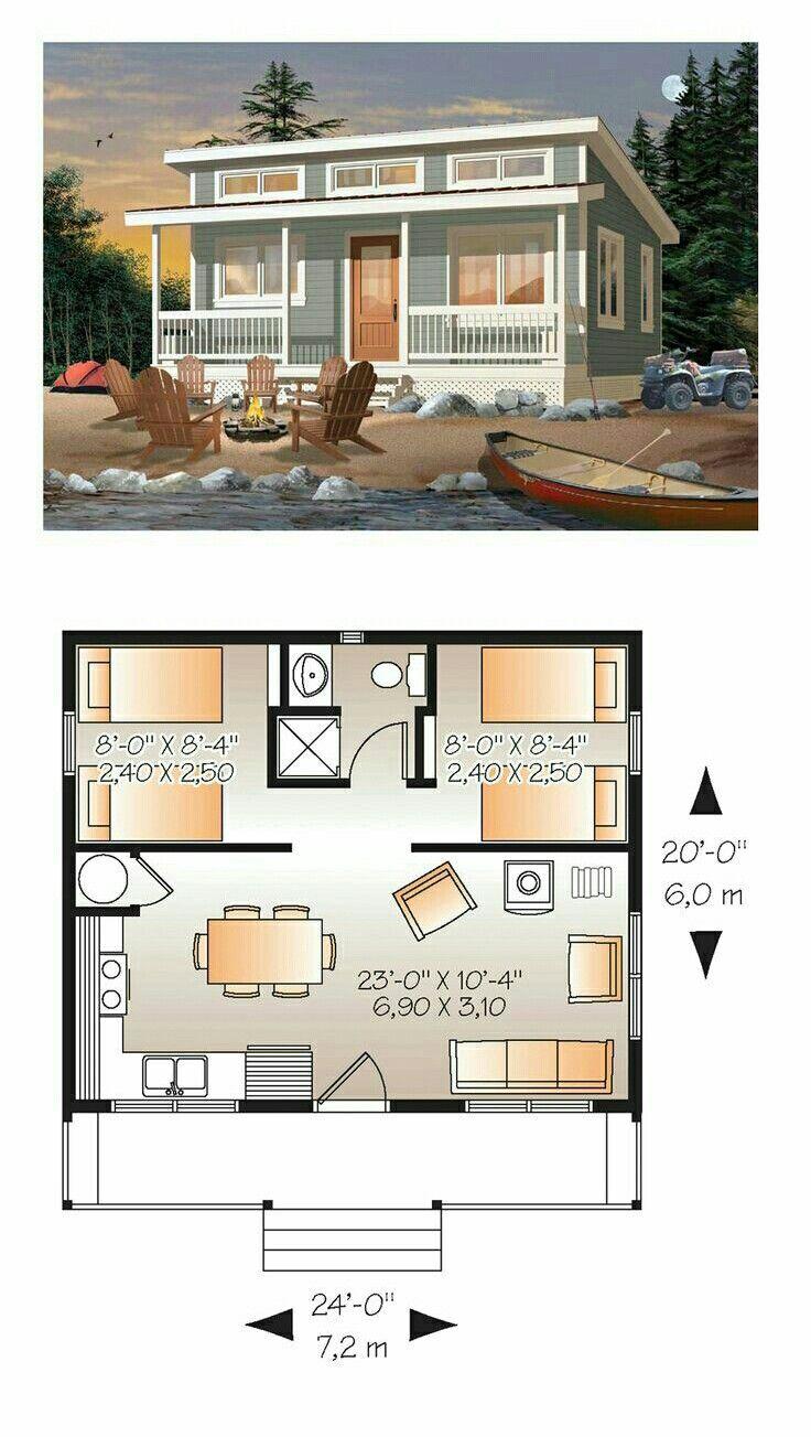 Perfect Little Vacation Cabin Denah Rumah Arsitektur Denah Rumah Kecil