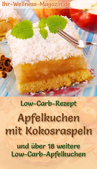 Low-Carb-Apfelkuchen mit Kokosraspeln - Rezept ohne Zucker