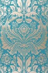 Turquoise And Gold Wallpaper Damask Awesome Home Dream Home