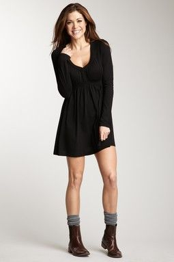SHORT DRESS WITH SOCKS \u0026 ANKLE BOOTS!