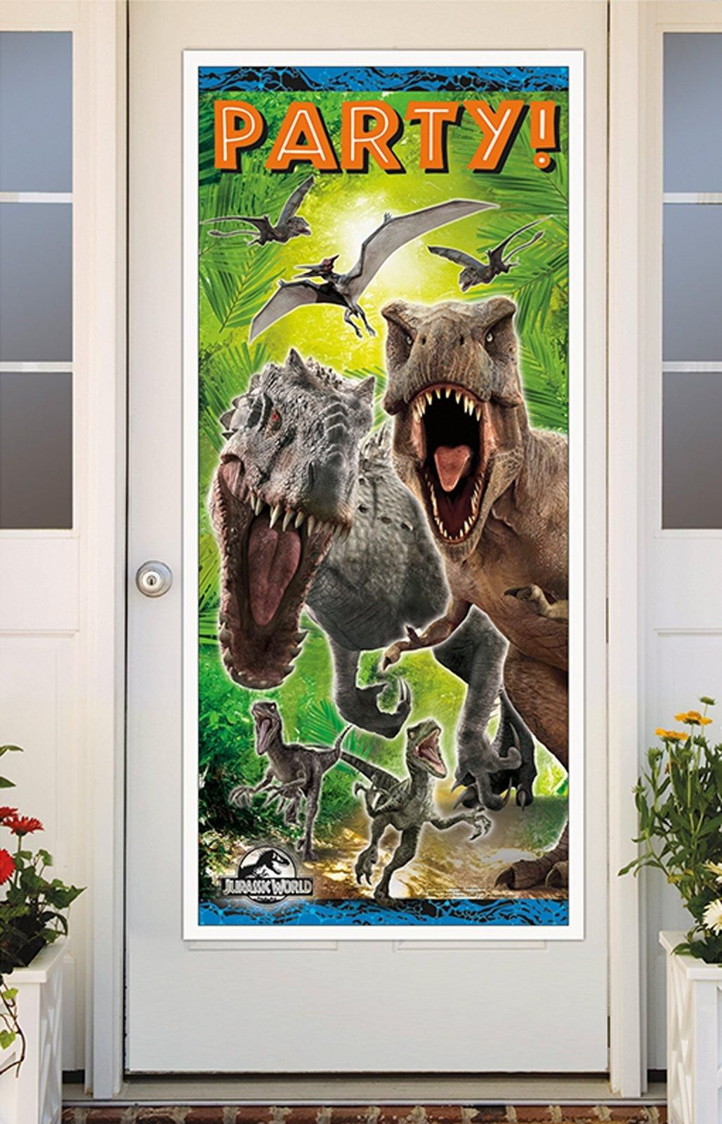 Dinosaur birthday & Jurassic World Door Cover from BirthdayExpress.com | Dinosaur ... Pezcame.Com