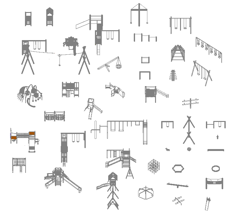 Playground equipment 3d dwg collection cadblocksfree for 3d drawing online no download