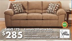 Signature Design By Ashley Hillspring Sofa From Big Lots 285 00
