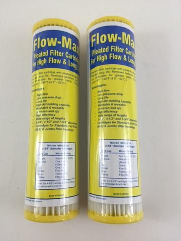 2 Pk Flow Max Pleated 50 Absolute Micron Filter 9 75 X 2 5 Remove Cyst Fm 50 975 Healthy Bowls 1 Water Filter Cartridge Filters Healthy Bowls