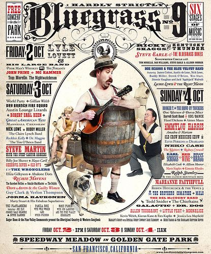 Hardly Strictly Bluegrass Festival -- 2009 poster by Zooomabooma, via Flickr