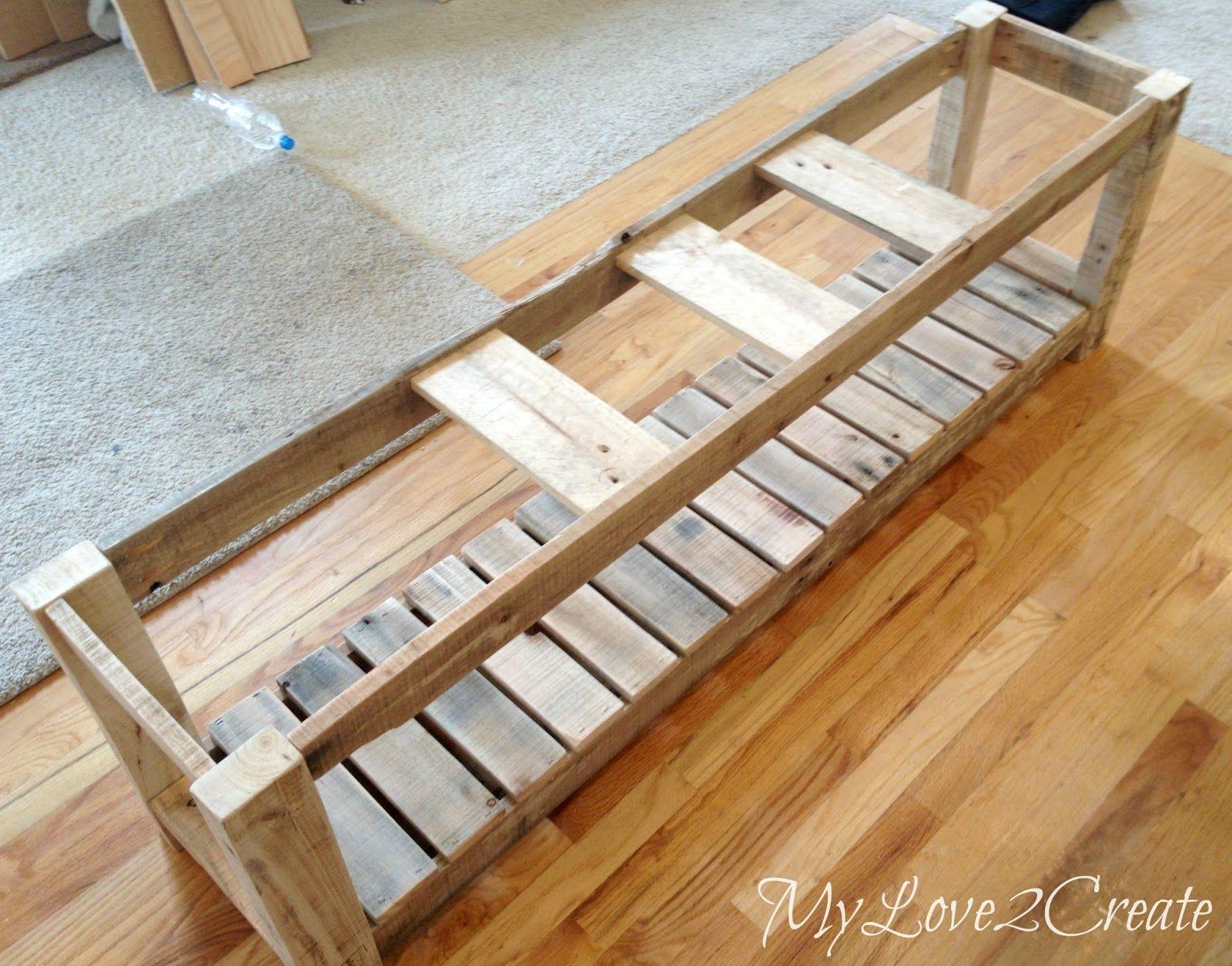 DIY Upholstered Bench, MyLove2Create