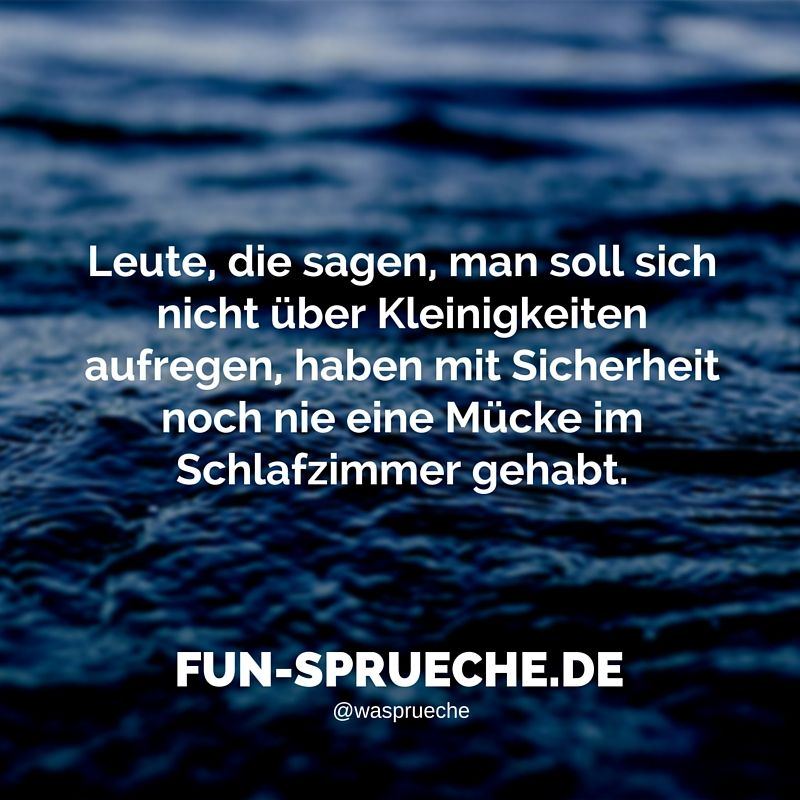 lustig #sprüche #leute #kleinigkeiten #sicherheit #mücke ... - Mücken Im Schlafzimmer