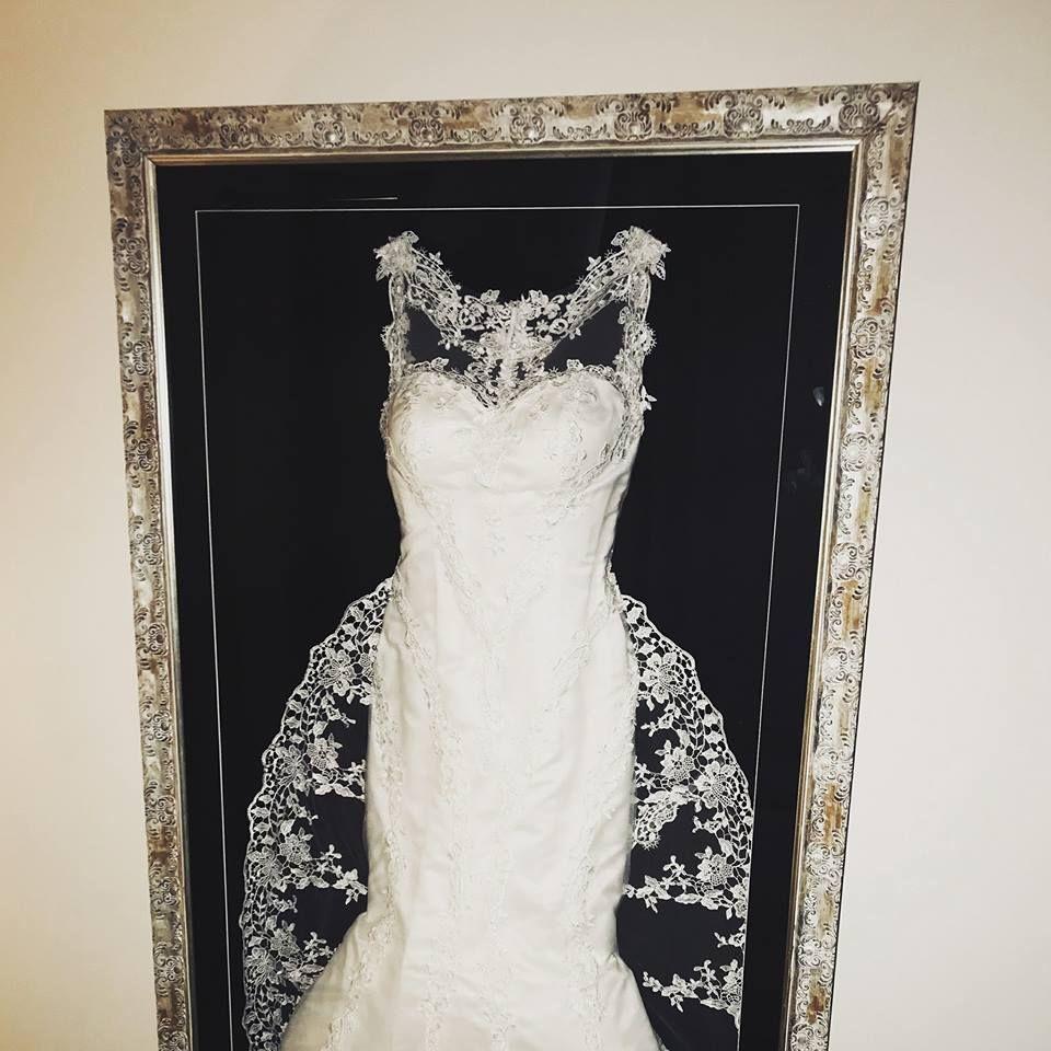 Pin By Whitney Paschall On Wedding Dress Display Ideas Wedding Dress Frame Wedding Dress Display Wedding Dress Keepsake