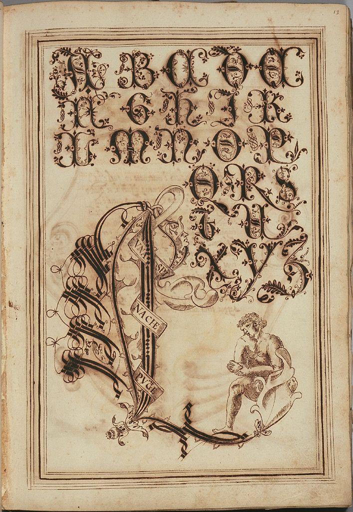 Letter 'L' - Opera dianto nella quale vedrete molte caratteri di lettere - Antonio Schiratti - 1600-1615