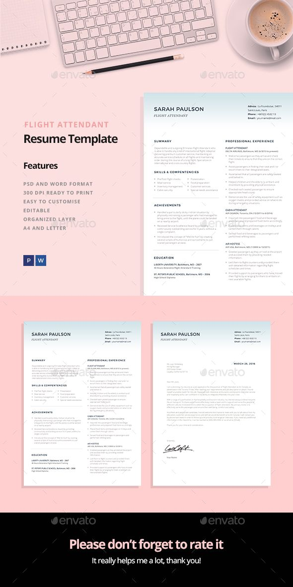 Flight Attendant Resume Template Flight Attendant Professional