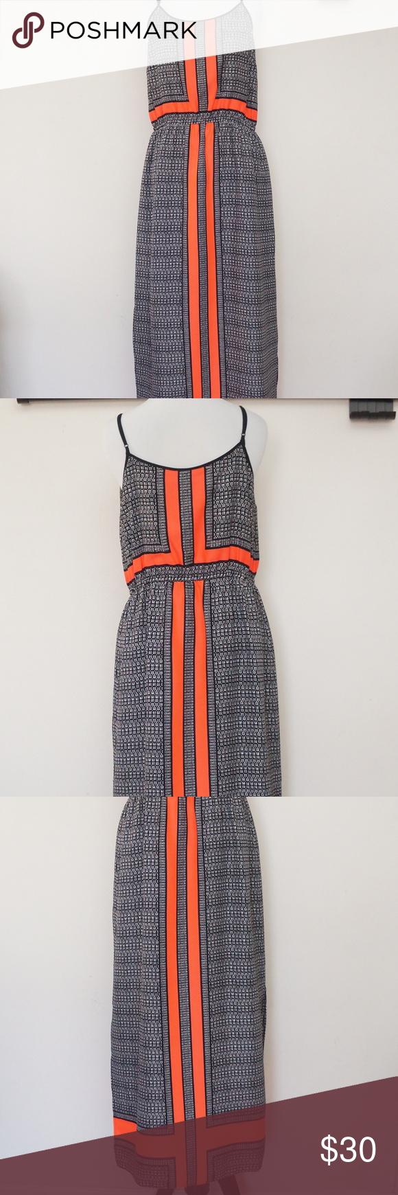 Vince Camuto Crossroad Panel Maxi Dress Maxi Dress Black N White Dress Maxi [ 1740 x 580 Pixel ]