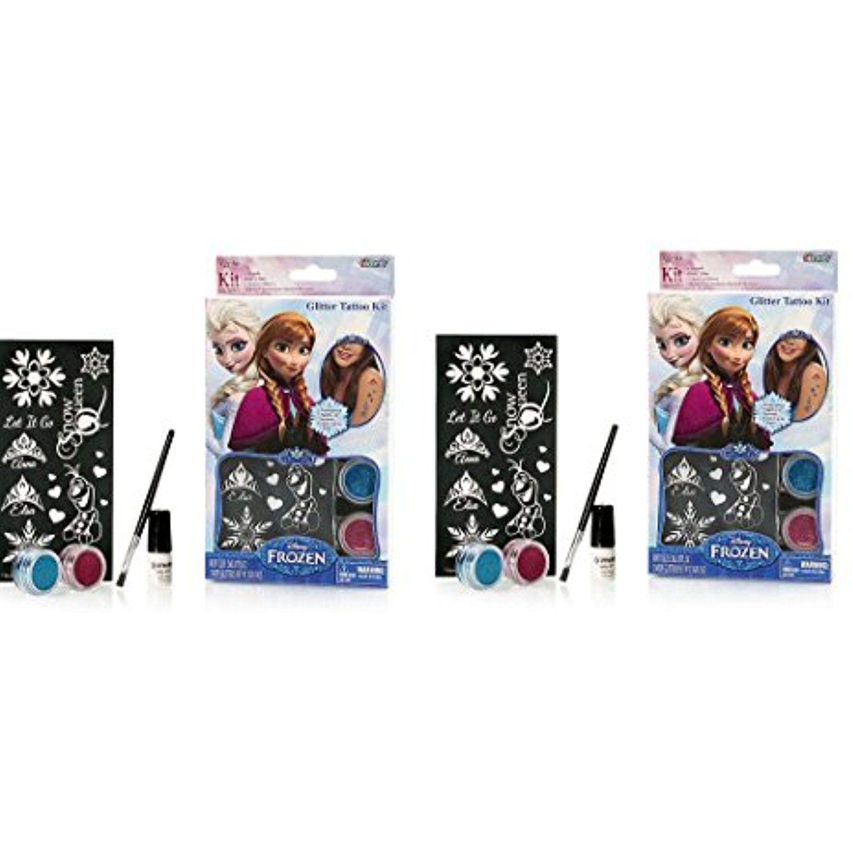 86276e3befa Disney Frozen Glitter Tattoo Kit x 2 (Include 1 Brush, Body Glue, 2 Body  Glitters, 10 Stencil Designs) ** For more information, visit image link.