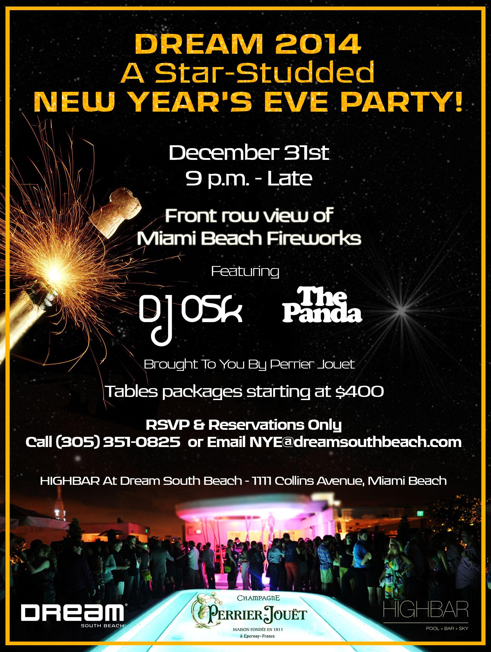 Nye S Party Nye Party Highbar Southbeacg Late Nights Nye Party South Beach Miami Beach