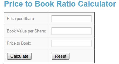 Price To Book Ratio Calculator Www Investingcalculator Org Price To Book Ratio Html Investing Investment Calculator Formula Online Free Tool Price Bo