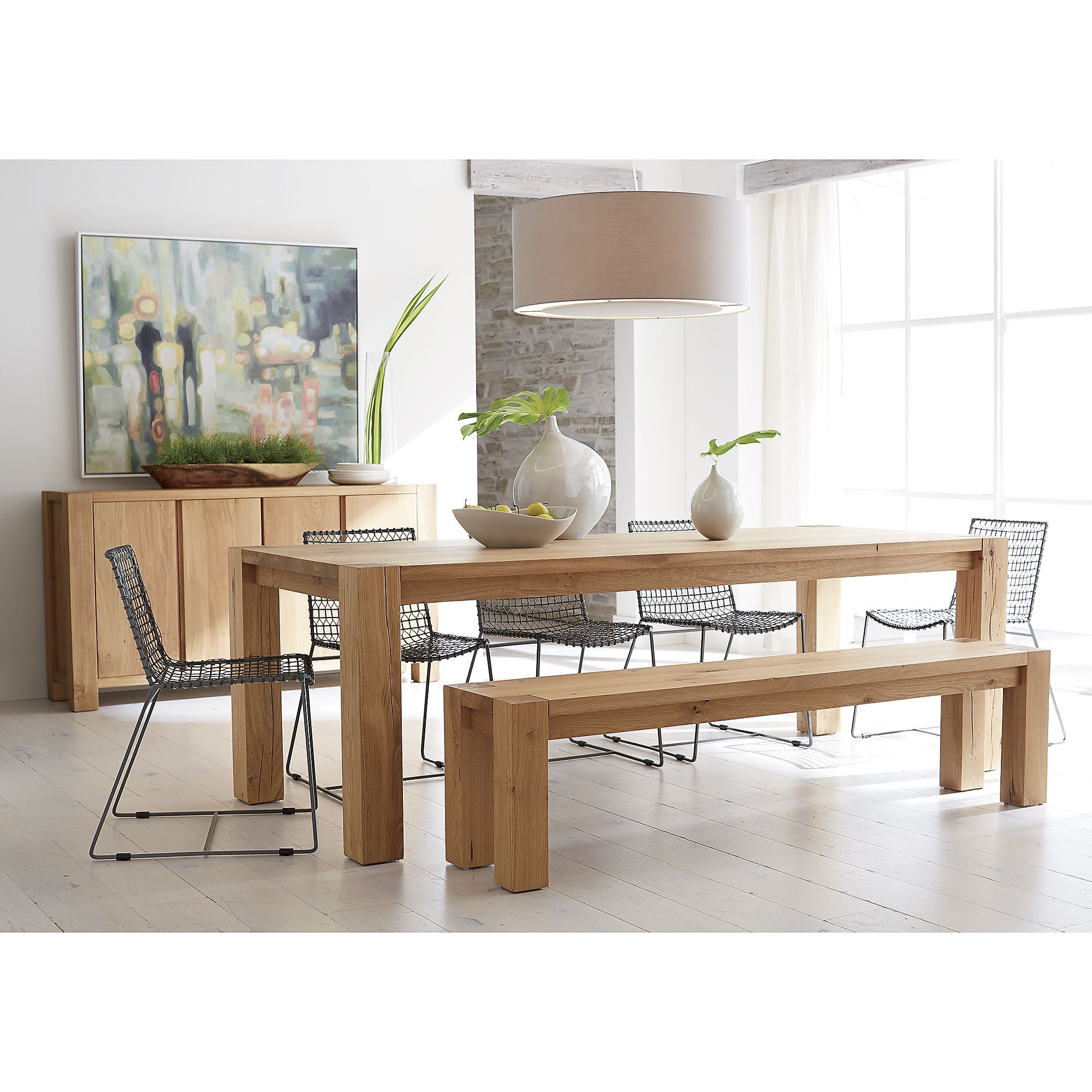 Big Sur Natural 65 Dining Table Crate And Barrel Metal Dining Chairs Dining Table Dining Chairs