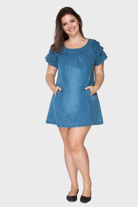 8a1be740e Vestido-Jeans-Bolso-Plus-Size_T1 | MODA PLUS SIZE | Moda plus size ...