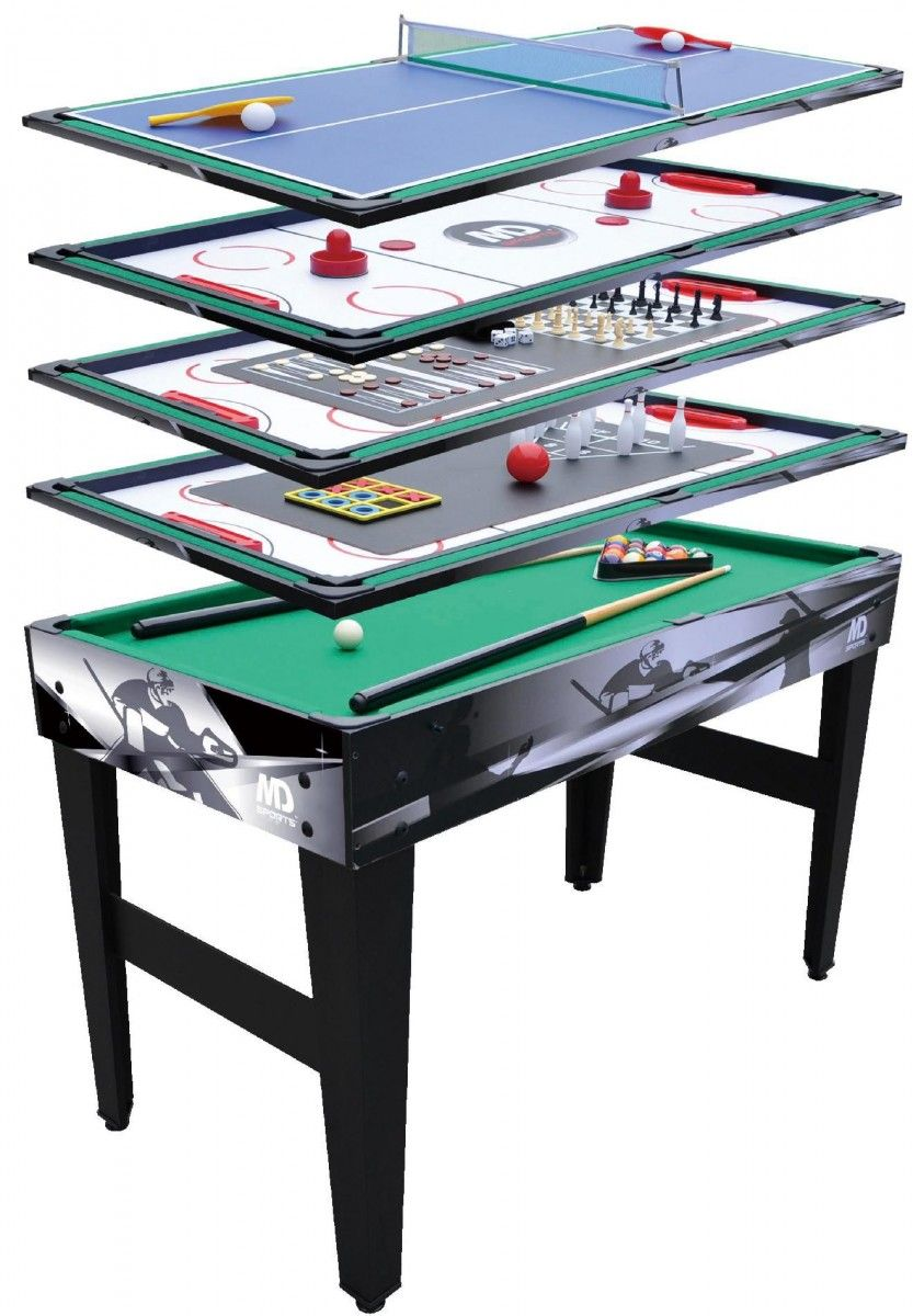 89 99 For Md Sports 48in 12 In 1 Multi Game Table Kmart Hot Deals Multi Game Table Table Games Pool Table