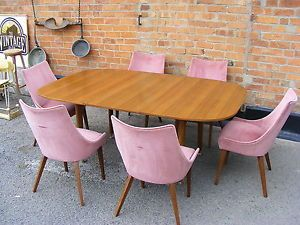 STUNNING-G-PLAN-EXTENDING-TEAK-DINING-TABLE-WITH-6-CURVED-BACK-DRALON-CHAIRS