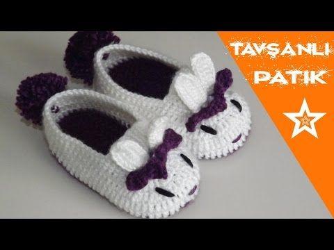 Çiçekli Sandalet Ev Terliği Yapımı - Detaylı Sesli Anlatım - YouTube #crochetbabyboots