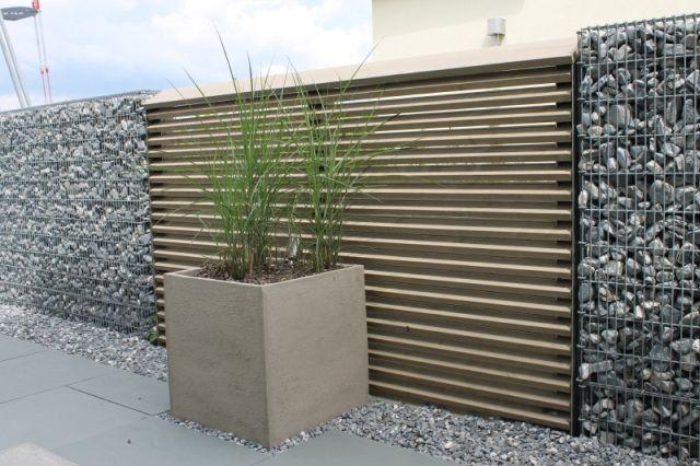 Sichtschutz kombiniert mit steink rben steinkorb for Steinkorb sichtschutz