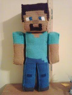 Steve Minecraft Minecraft Crochet Patterns Minecraft Crochet