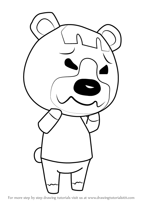 How To Draw Pudge From Animal Crossing Drawingtutorials101 Com Animal Crossing Drawings Animals
