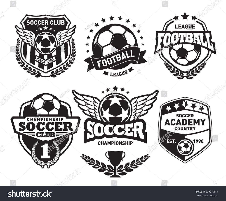 Set Of Soccer Football Badge Design Templates Sports Logo Design Logo Design Template Football Logo Design