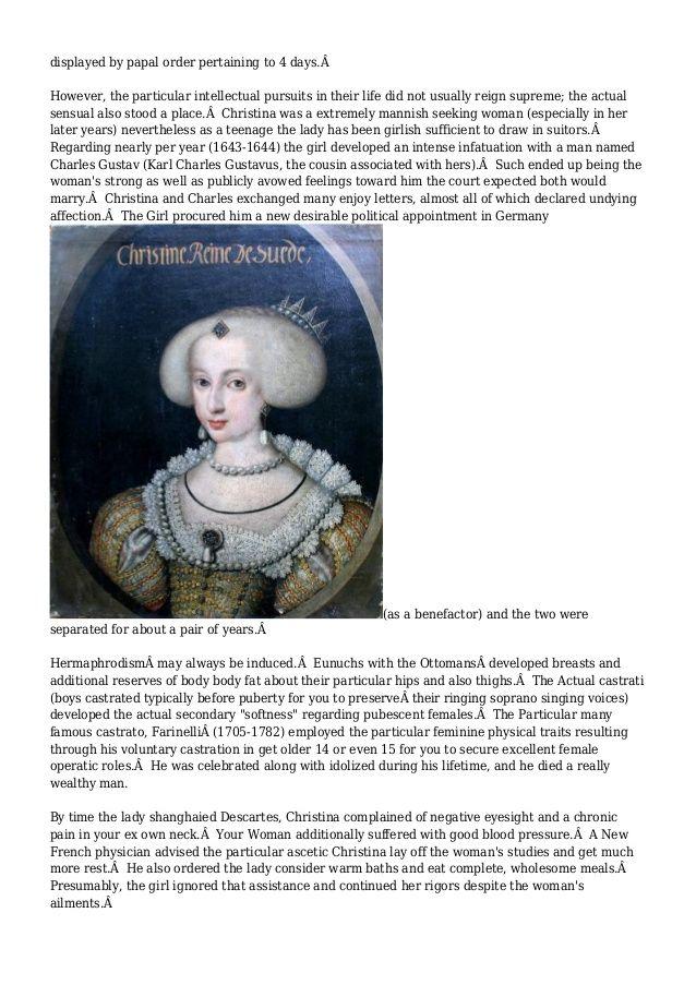 Christina, Hermaphrodite Queen of Sweden