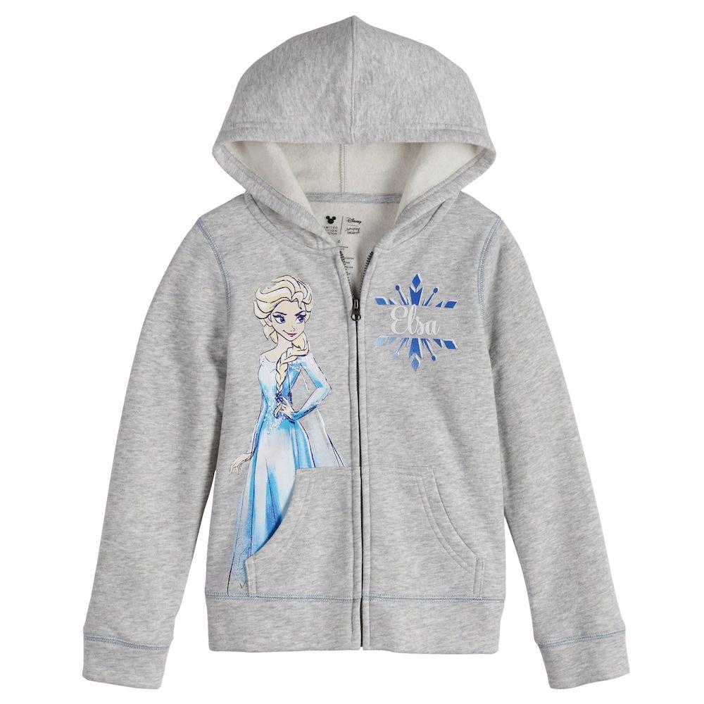 Girls Kids Frozen Anna Elsa Spring Fall Jacket Sweatshirts Hoodies Outerwear