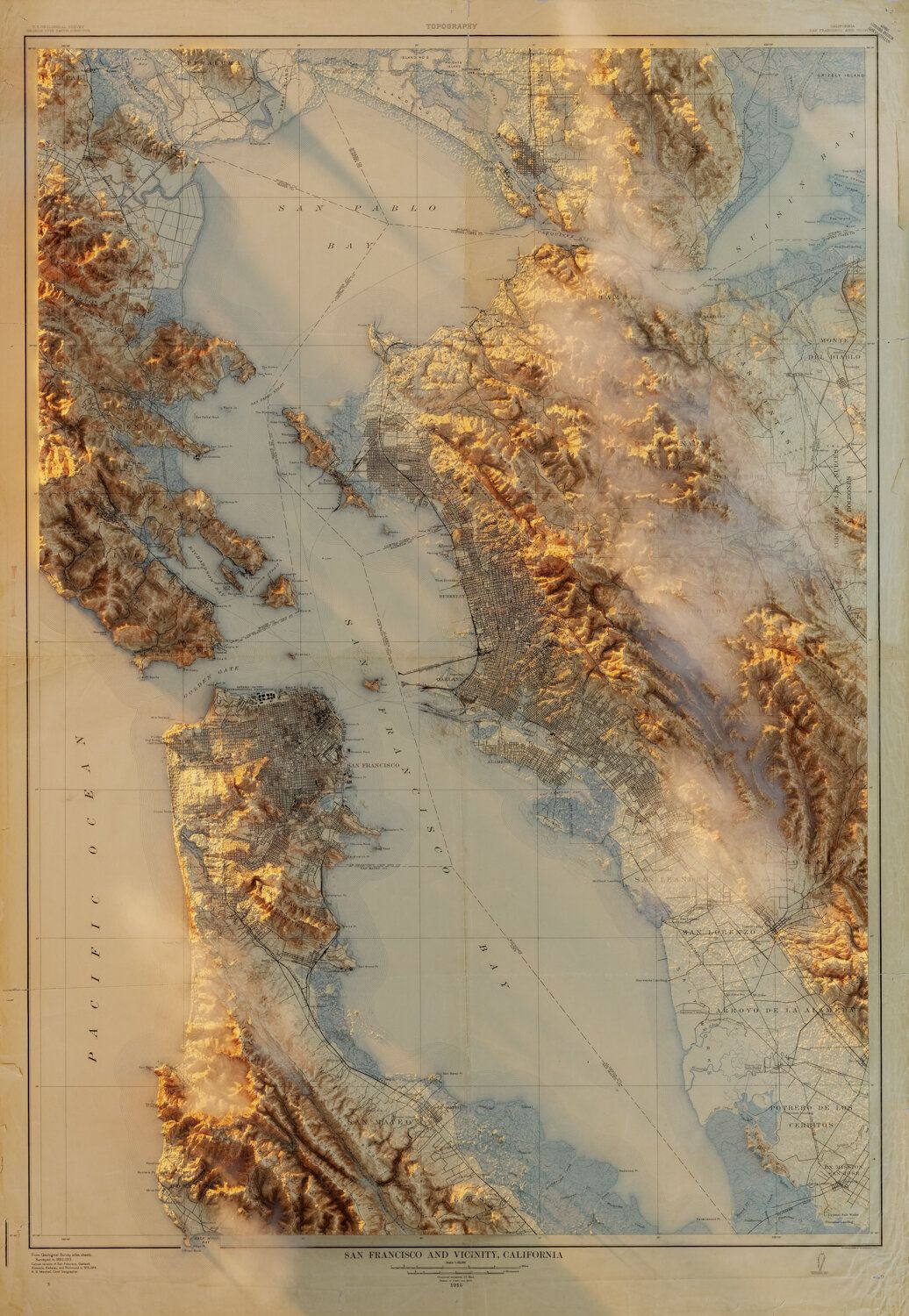 3d Rendered Topographic Maps