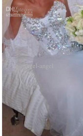 (Continued) Custom beading Pnina Tornai bridal dresses brush train ball gown chiffion white bridal wedding dress