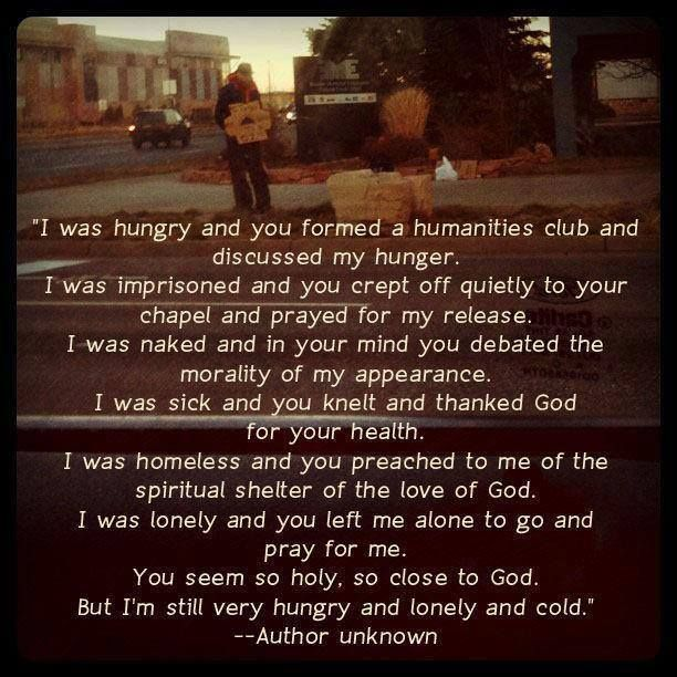 Are you holy and close to God? Or hungry, lonely and cold?