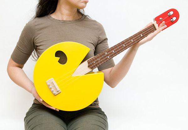 Pac-Man inspired ukulele