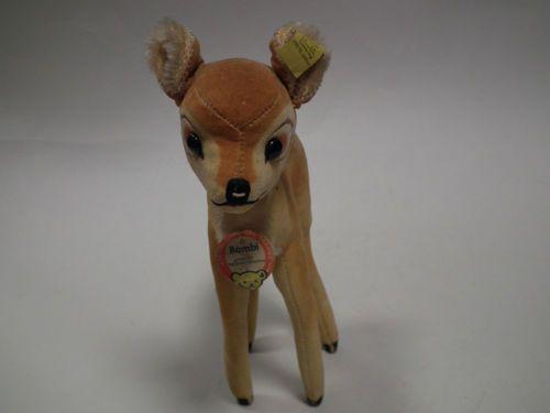 Steiff  Bambi 60 er Jahre  mit Knopf und Fahne