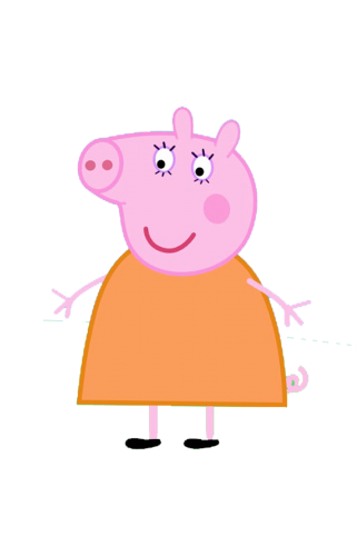 Mama Cerdita Peppa Pig Figura Dibujos Para Cakes En 2019 Peppa