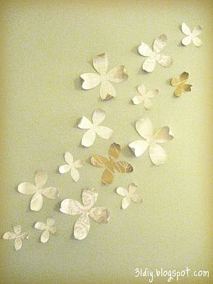 diy paper flowers for the wall | 31 diy: Paper Wall Flowers ...