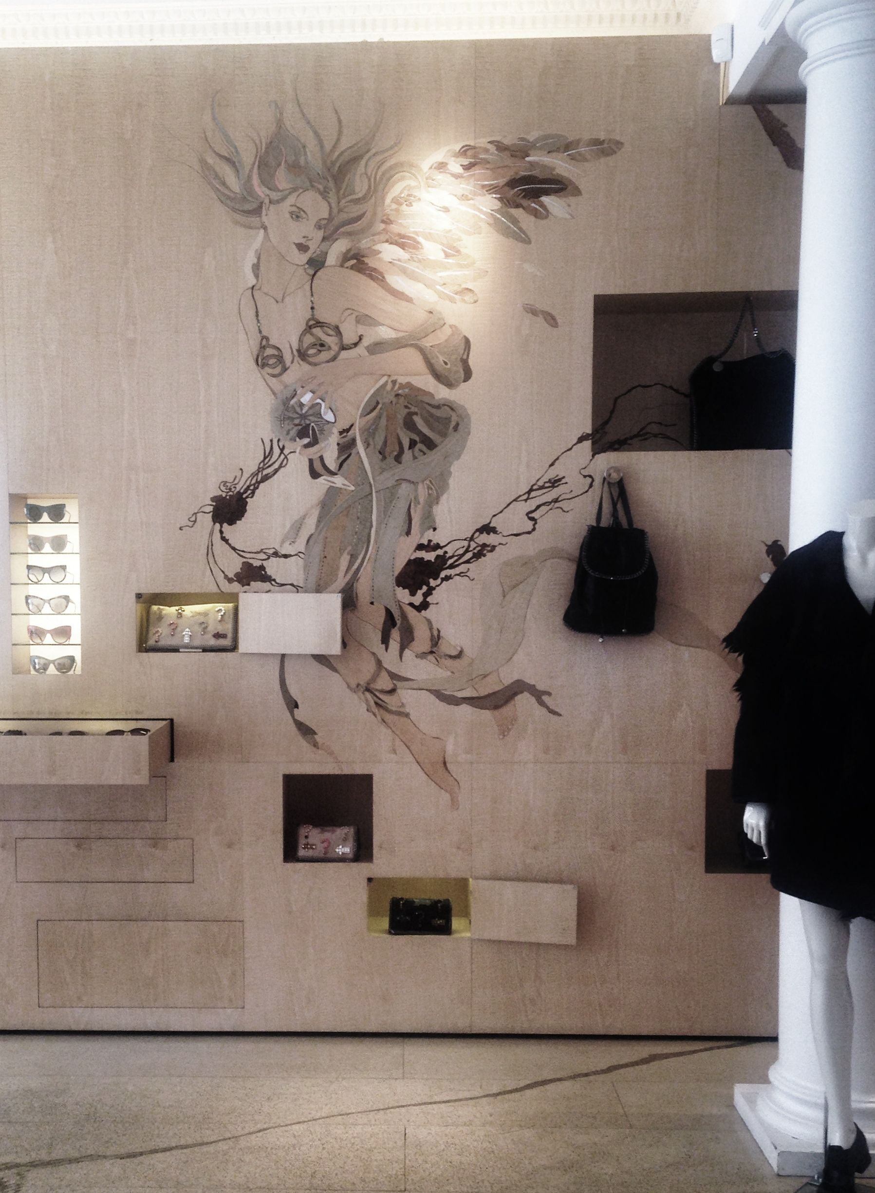 Stella Mc Cartney London Visual Display Wall Deco Retail Design