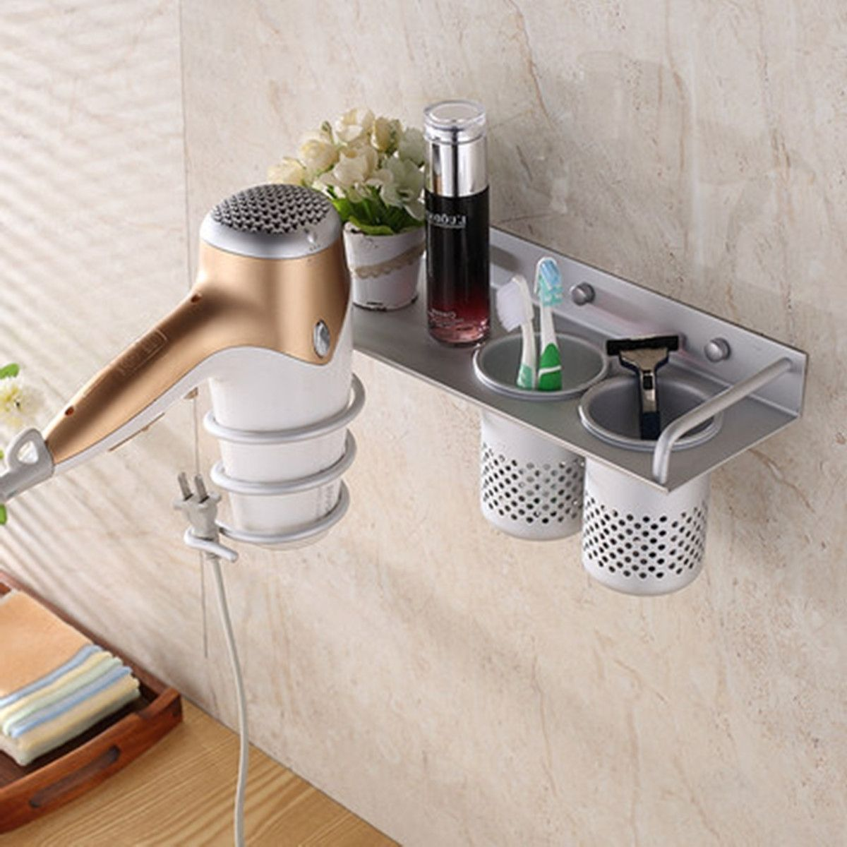 Hair Dryers Storage Ideas For Small Bathrooms