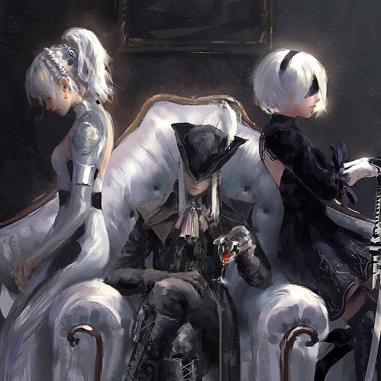 Luna Lady Maria 2b Which One Is Your Favorite Follow Anime Ishi For More Credi Bloodborne Art Final Fantasy Xv Wallpapers Art