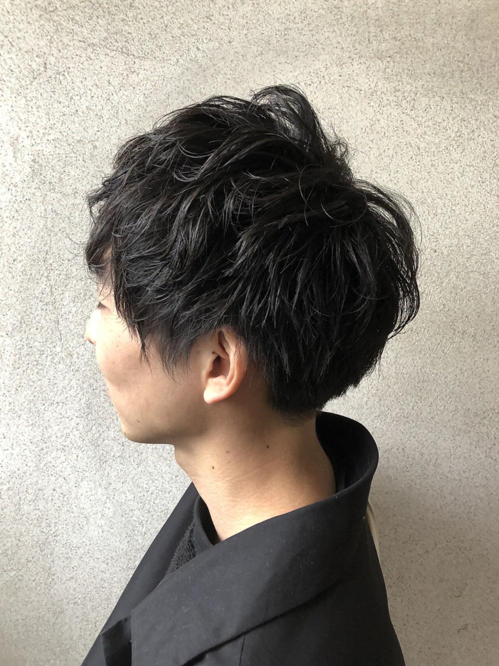 メンズパーマ ショート ストリート 2ブロック Bab By Neolive 鈴木 純 593557 Hair ショート パーマ メンズパーマ ショート メンズパーマ