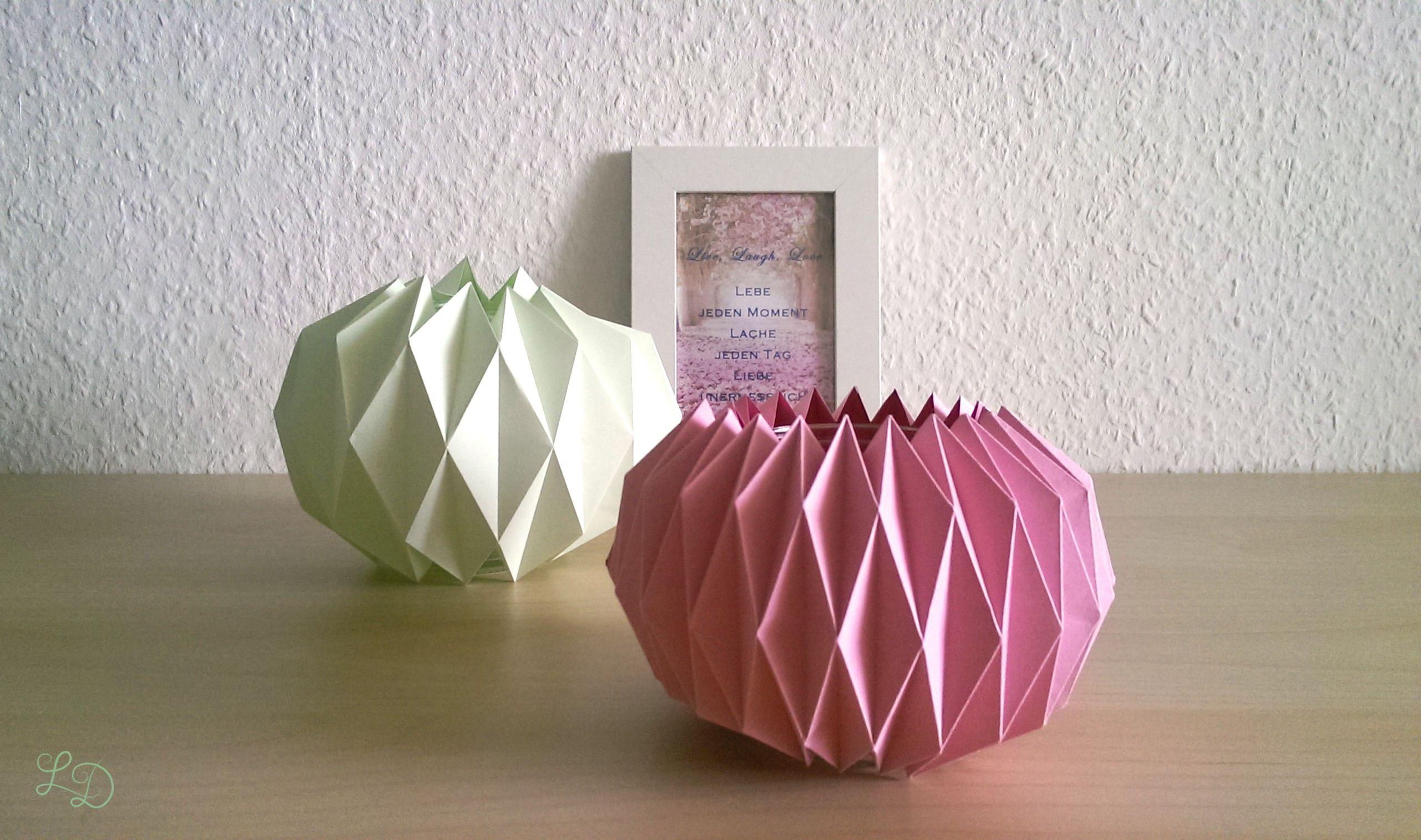 Origami Gläser verschönern 16