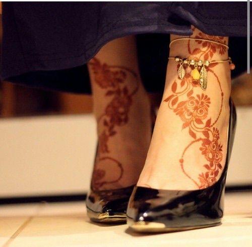 Pin By نوف عبدالله On Henna Henna Designs Easy Henna Designs Feet Foot Henna