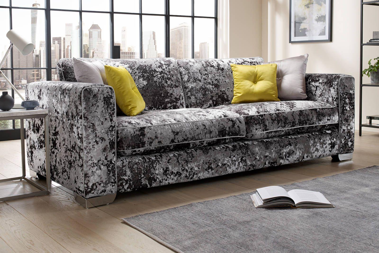 Glastonbury Sofology Crushed Velvet Sofa Sofa Fabric