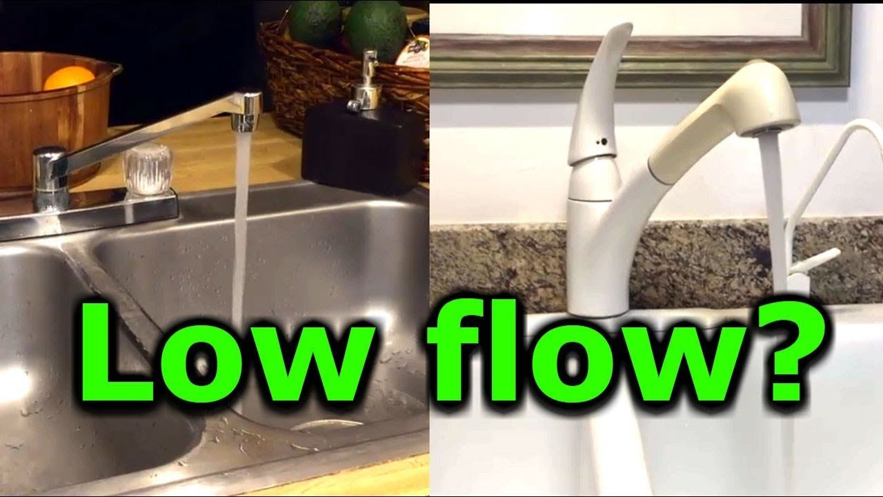 How to fix low water pressure in kitchen or bathroom