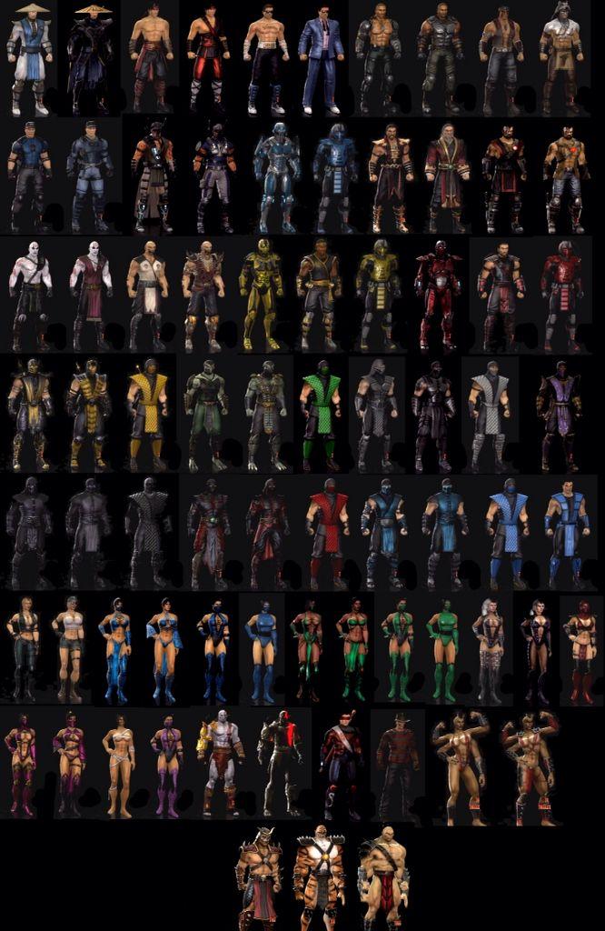 Mortal kombat 9 character skins | Gaming setup | Mortal