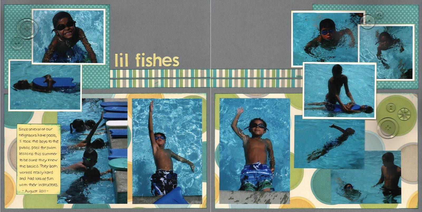Even More Scrapping! 6 to 8 photos. swimming lessons. Made 11-16.